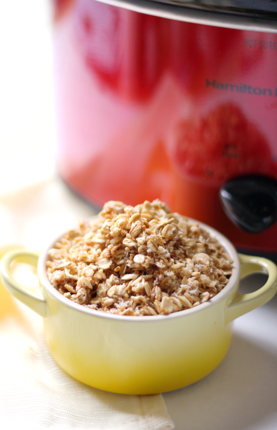 Slow Cooker Vanilla Coconut Granola (Gluten-Free, Vegan) | Strength and Sunshine @RebeccaGF666 The ultimate no-fuss granola recipe! Slow Cooker Vanilla Coconut Granola made right in the crock-pot, is gluten-free, vegan, and allergy-free! This simply healthy, sweet, and coconutty granola makes a great breakfast or snack with zero work involved!