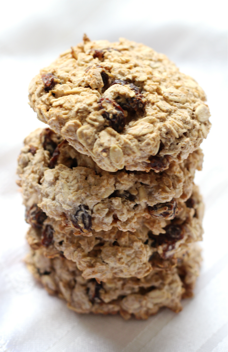 "Chewy Gluten-Free Oatmeal Raisin Cookies (Allergy-Free, Vegan) | Strength and Sunshine @RebeccaGF666 Your favorite ""healthy"" cookies, now gluten-free, allergy-free, and vegan! These Chewy Gluten-Free Oatmeal Raisin Cookies are an easy dessert recipe to bake up any day of the week when the craving for a sweet snack hits!"