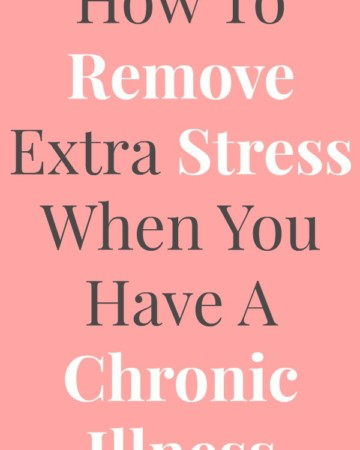 How To Remove Extra Stress When You Have A Chronic Illness | Strength and Sunshine @RebeccaGF666 Living with a chronic illness is stressful enough, but there are some steps we can take to manage extra stress. Here's some tips and ideas on how to remove extra stress when you have a chronic illness. ad