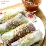 Quinoa Spring Rolls with Homemade Duck Sauce (Gluten-Free, Vegan)
