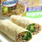 Buffalo Tahini Quinoa & Rice Wraps (Gluten-Free, Vegan)