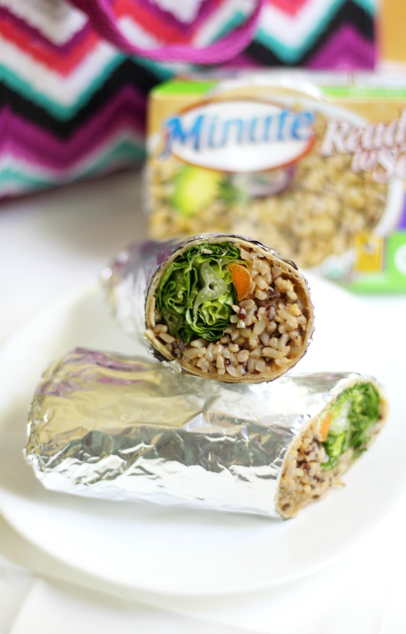 Buffalo Tahini Quinoa & Rice Wraps (Gluten-Free, Vegan) | Strength and Sunshine @RebeccaGF666 A quick and easy lunch idea for those hectic days! Buffalo Tahini Quinoa & Rice Wraps that are gluten-free, vegan, top 8 allergy-free, and freezable! A great recipe to meal prep so you'll always have a delicious option ready to go.