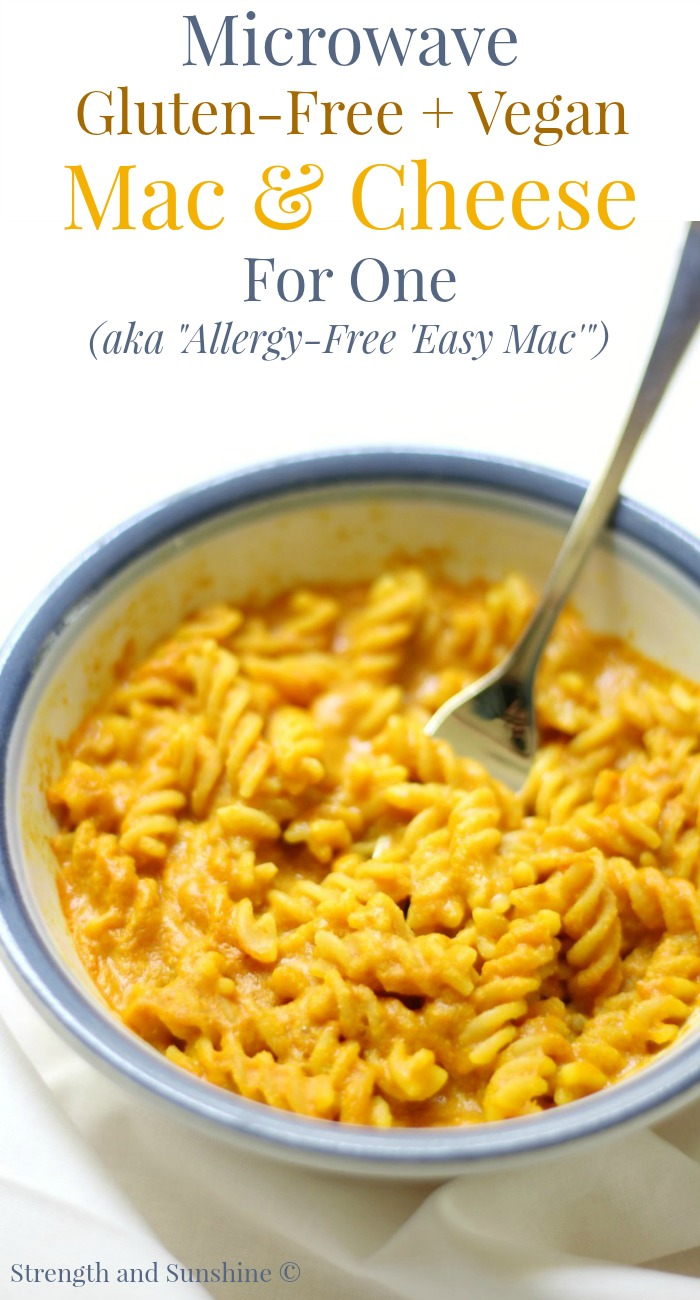 Microwave gluten free vegan mac cheese for one microwave gluten free vegan mac cheese for one allergy free forumfinder Gallery