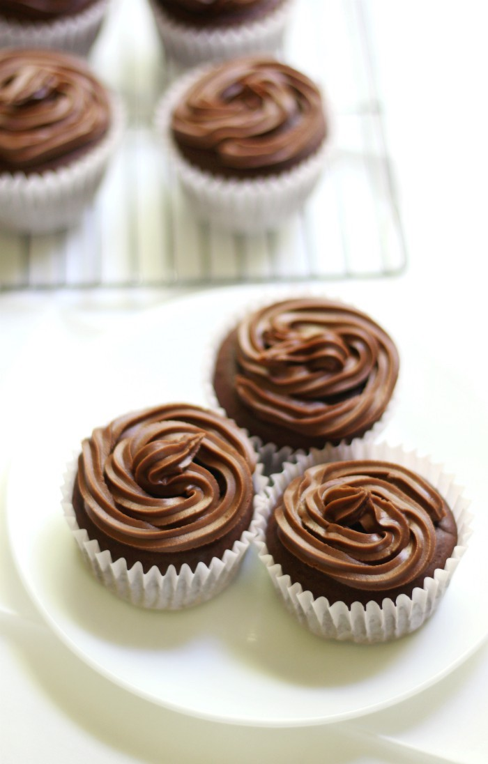 "Classic Gluten-Free Chocolate Cupcakes (Vegan, Allergy-Free, Sugar-Free) | Strength and Sunshine @RebeccaGF666 Delicious homemade Classic Gluten-Free Chocolate Cupcakes that are vegan, top-8 allergy-free, & sugar-free! When you need a simple chocolaty dessert recipe everyone will love and never know is ""free-from""! A soft and rich cake with a simple cocoa ""buttercream"" frosting; it's time to celebrate!"