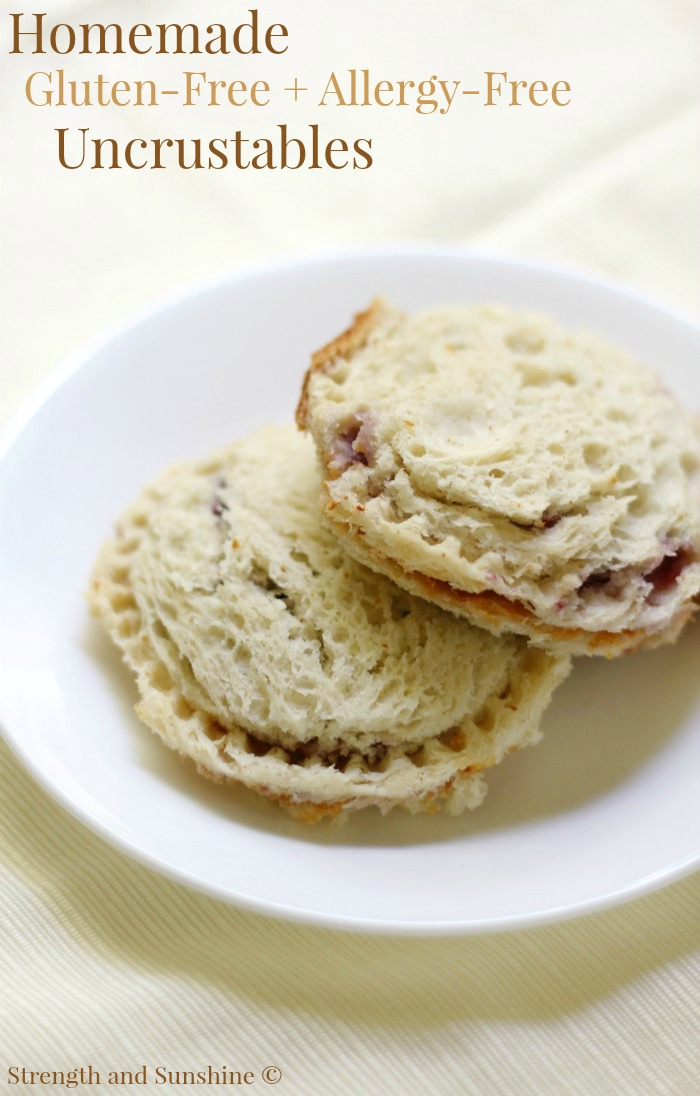 "Homemade Gluten-Free + Allergy-Free Uncrustables (Vegan) | Strength and Sunshine @RebeccaGF666 Just what the little picky eaters want! Homemade Gluten-Free + Allergy-Free Uncrustables! A school-friendly, top food allergy-friendly, vegan, and gluten-free version of the packaged ""PBJ crustless pocket"" sandwich! Make these ahead of time for a quick and easy lunch recipe or snack for the entire school week!"