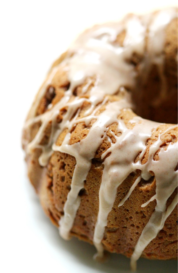Gluten-Free Apple Butter Bundt Cake with Cinnamon Glaze (Vegan, Allergy-Free) | Strength and Sunshine @RebeccaGF666 A delicious dessert for the season. Gluten-Free Apple Butter Bundt Cake with Cinnamon Glaze that's vegan and top 8 allergy-free. Combining the deep and rich flavors of apple butter and seasonal spices for one healthy and sweet recipe treat! #glutenfree #vegan #applebutter #cake #bundtcake #cinnamon