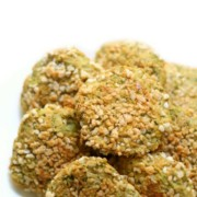 Gluten-Free + Vegan Chickpea Nuggets (Allergy-Free, Grain-Free)   Strength and Sunshine @RebeccaGF666 An easy and healthy meatless nugget that the kids will love! Gluten-free & Vegan Chickpea Nuggets that are top 8 allergy-free, grain-free, and have a secret dose of veggies too! A deliciously fun plant-based recipe for little hands at lunchtime or dinner! #glutenfree #vegan #chickpeas