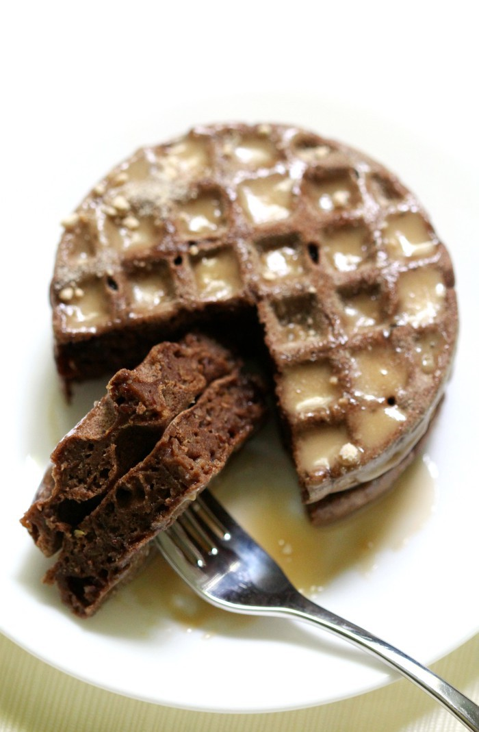 Gluten-Free Mini Maple Teff Waffles (Vegan, Allergy-Free) | Strength and Sunshine @RebeccaGF666 The toasty sweet flavor and aroma of maple will have you jumping out of bed for breakfast! These Gluten-Free Mini Maple Teff Waffles are vegan, top-8 allergy-free, and a perfect single-serve recipe for a cozy start on a cold morning! #glutenfree #vegan #waffles #breakfast #maple #teff