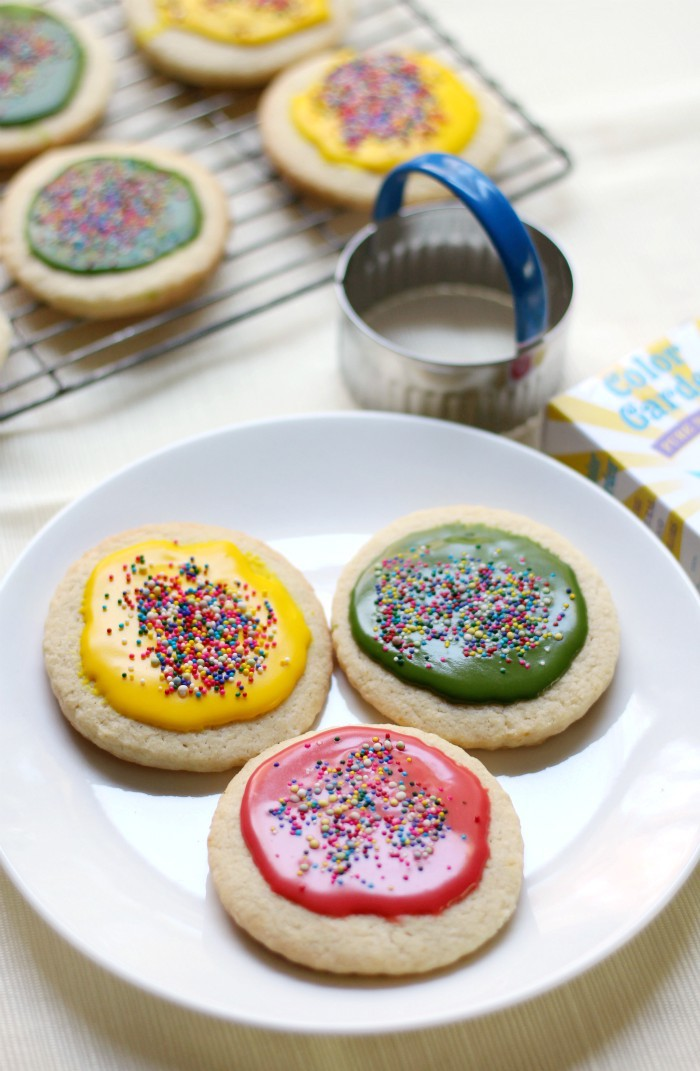 Gluten-Free + Vegan Cut-Out Sugar Cookies with Sugar-Free Icing (Allergy-Free) | Strength and Sunshine @RebeccaGF666 Gluten-Free & Vegan Cut-Out Sugar Cookies that taste exactly like the sweet, buttery, tender delights from your favorite childhood recipe! With a simple sugar-free and natural colored icing, these top-8 allergy-free treats are perfect for any holiday, party, or celebration! Easy to make and fun to decorate! #cookies #glutenfree #vegan #sugarcookies
