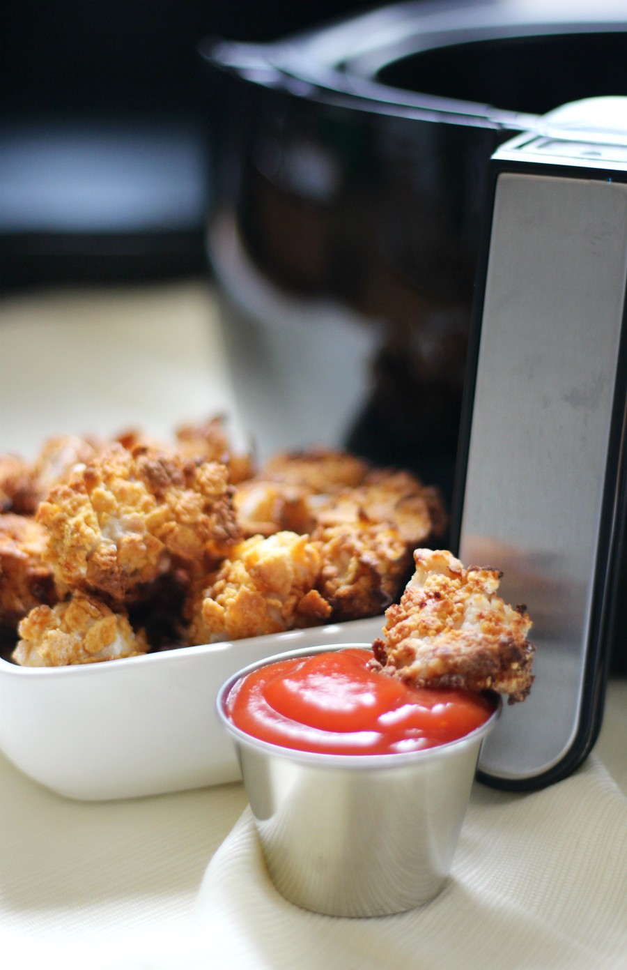 Extra Crispy Gluten-Free Air Fryer Popcorn Chicken (Allergy-Free, No Oil) | Strength and Sunshine @RebeccaGF666 No oil needed for this Extra Crispy Gluten-Free Air Fryer Popcorn Chicken recipe! A healthier, super crunchy version of your fast food favorite that's top 8 allergy-free, a mom-approved quick & easy dinner idea, and kid-friendly! #popcornchicken #glutenfree #allergyfree #dinner #chicken