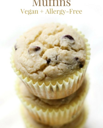 Gluten-Free Bakery-Style Chocolate Chip Muffins (Vegan, Allergy-Free) | Strength and Sunshine @RebeccaGF666 A healthier, tender and fluffy, muffin recipe studded with dark chocolate chips! Gluten-Free Bakery-Style Chocolate Chip Muffins that are vegan and allergy-free! Your favorite bakeshop classic, now enjoyable for everyone as a breakfast, brunch or snack bite; perfect with a cup of coffee or tea! #chocolatechipmuffins #muffins #glutenfree #vegan #allergyfree #strengthandsunshine