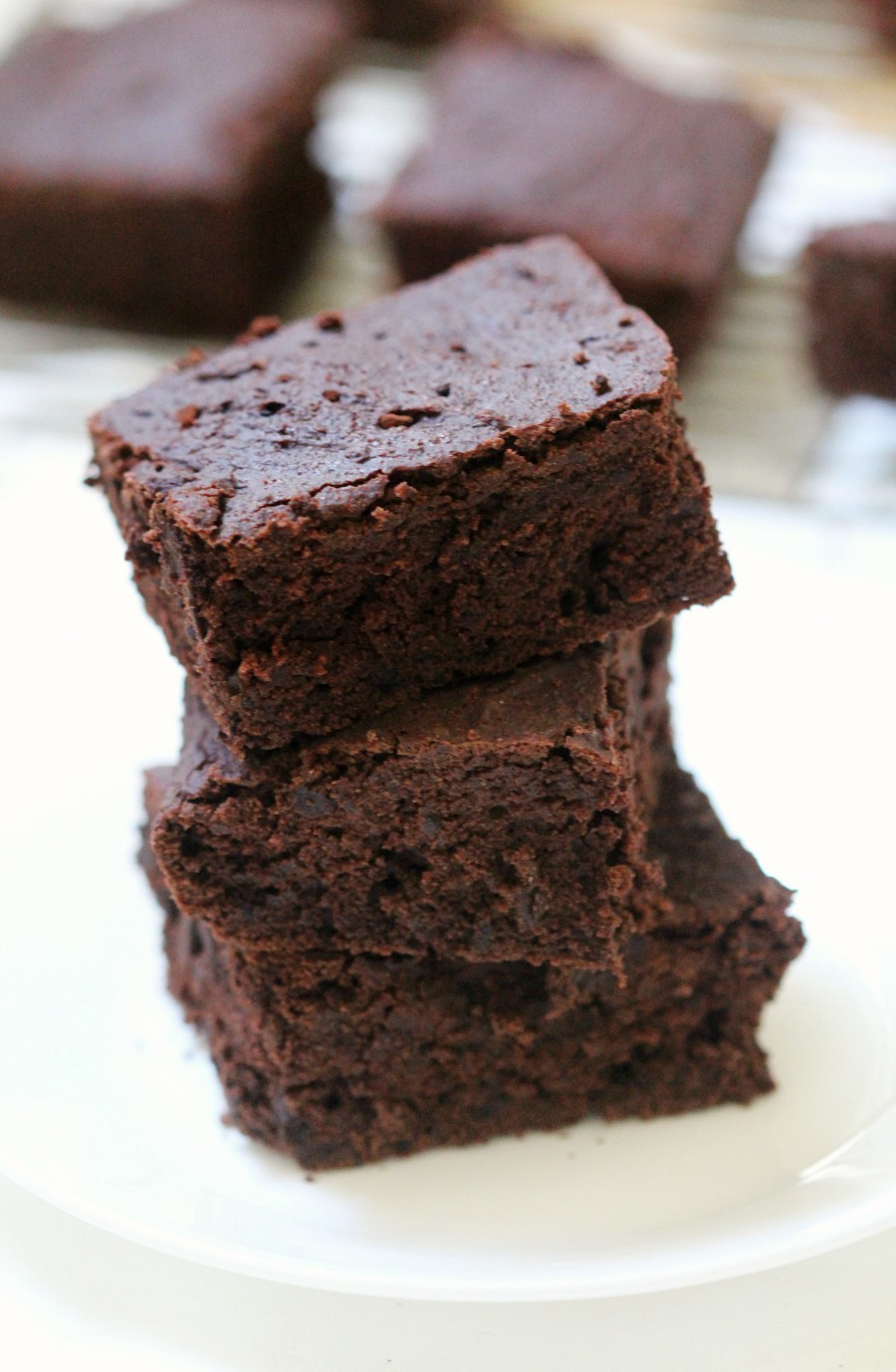 Easy Thick & Fudgy One-Bowl Gluten-Free Vegan Brownies (Allergy-Free) A quick & easy recipe for classic Thick & Fudgy One-Bowl Gluten-Free Vegan Brownies! A top 8 allergy-free, oil-free, and sugar-free swap for your favorite rich and decadent chocolate dessert! Kid and mom approved for any party or celebration!