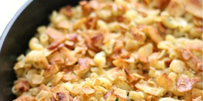 Gluten-Free Baked Vegan Bacon Ranch Pasta Skillet (Allergy-Free)