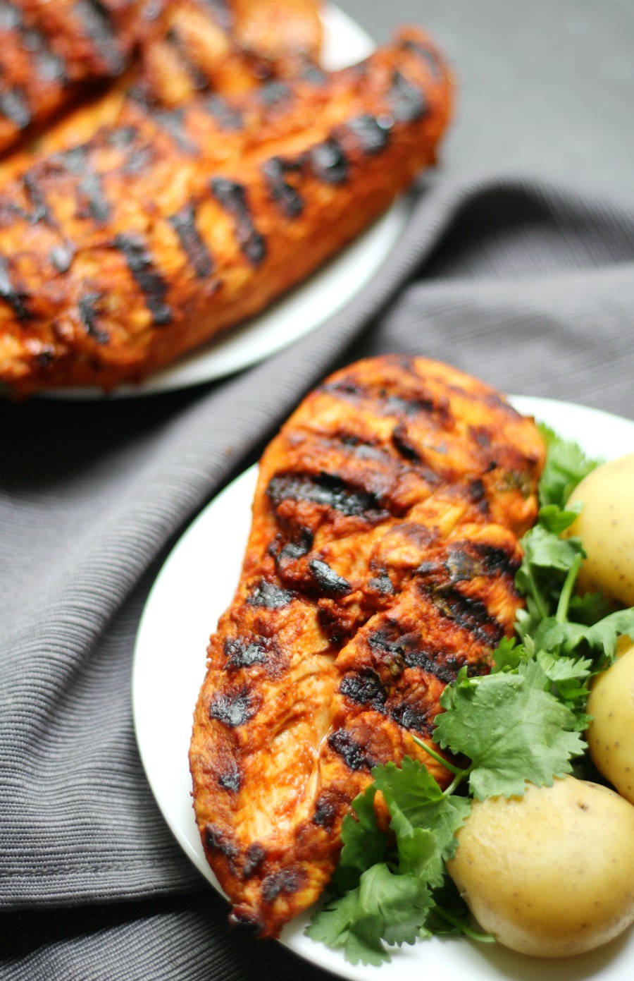 Grilled Peri-Peri Chicken (Gluten-Free, Paleo, Allergy-Free) | Strength and Sunshine @RebeccaGF666 A spicy North African recipe that will take your plain grilled chicken up a notch! Marinated in a spicy, zesty sauce, this Grilled Peri-Peri Chicken is loaded with flavor, gluten-free, paleo, top 8 allergy-free, and perfect for any cookout, bbq, or dinner!