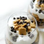 No-Bake Gluten-Free S'mores Parfait (Vegan, Allergy-Free) | Strength and Sunshine @RebeccaGF666 Easy, healthy, and delicious! A No-Bake Gluten-Free S'mores Parfait that's vegan, top 8 allergy-free, and uses homemade ingredients without the junk! A perfect summer dessert recipe the kids and adults will love (it's even secretly protein-packed)! #smores #nobake #dessert #glutenfree #vegan #parfait #strengthandsunshine