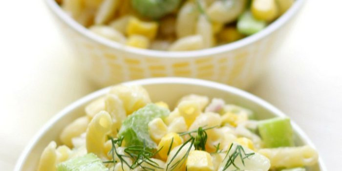 Simple Summer Corn Macaroni Salad (Gluten-Free, Vegan, Allergy-Free)