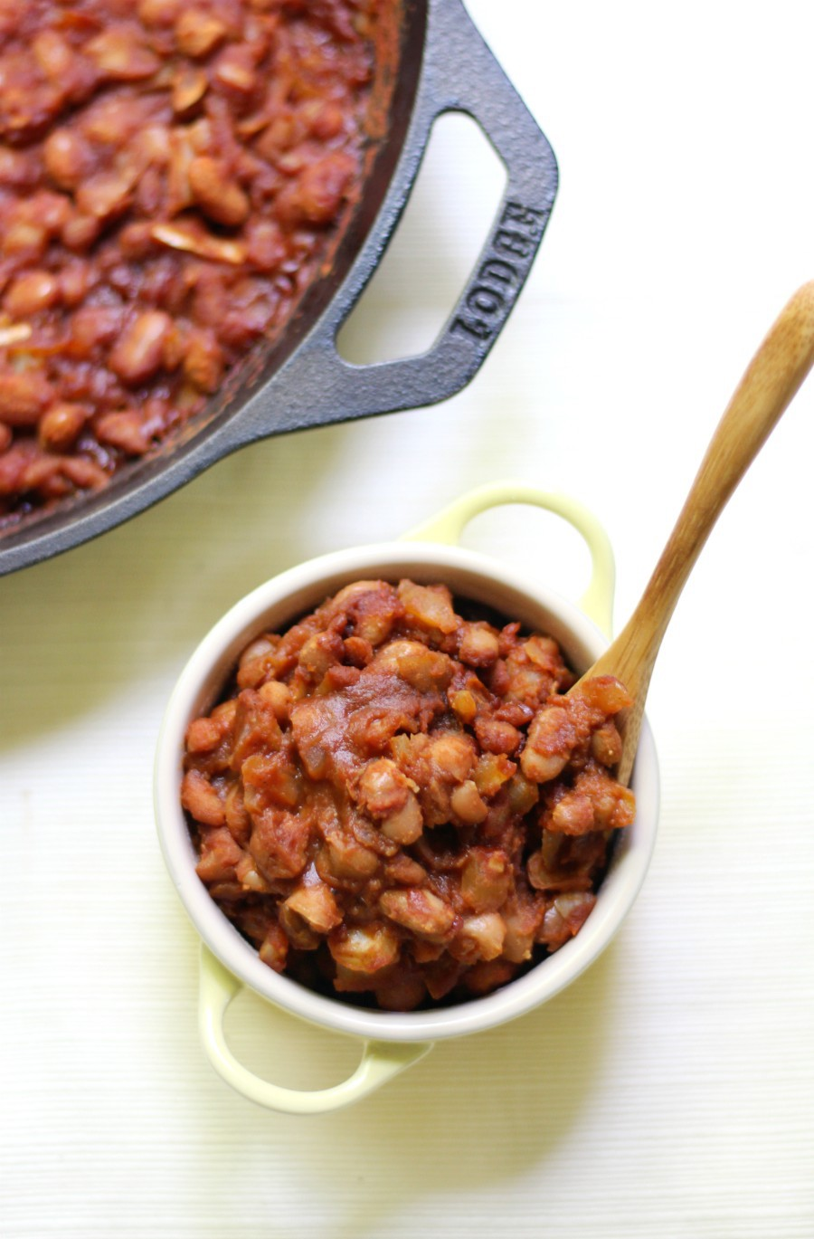 Old-Fashioned Vegan Baked Beans (Gluten-Free, Allergy-Free) | Strength and Sunshine @RebeccaGF666 Just like grandma used to make! This is the best Old-Fashioned Vegan Baked Beans recipe! They're sweet, smoky, gluten-free, top 8 allergy-free, and baked right in your cast iron skillet!