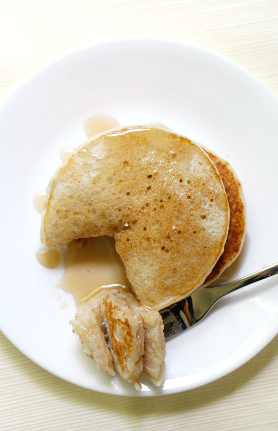 top-down-pancakes-fork-bite
