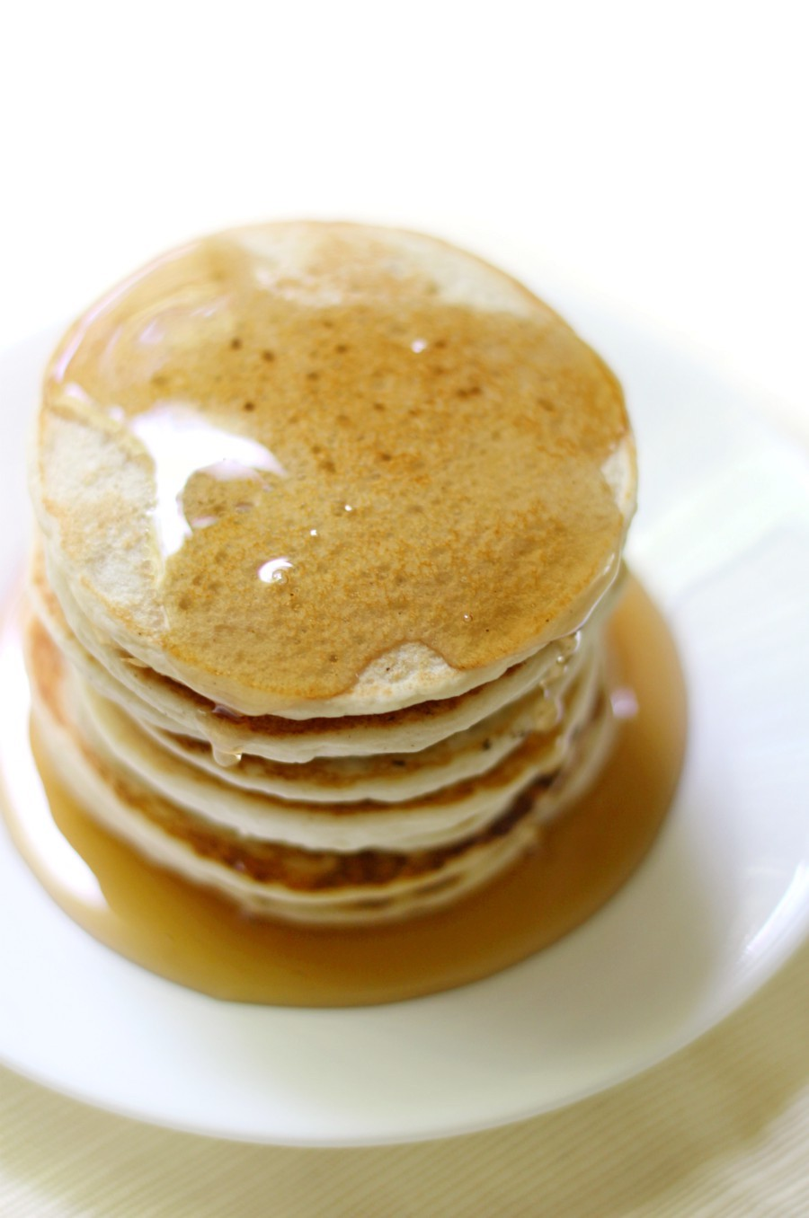 pancakes-with-syrup-white-plate