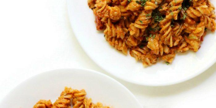Creamy Vegan Sun-Dried Tomato Pesto Pasta (Gluten-Free, Allergy-Free)