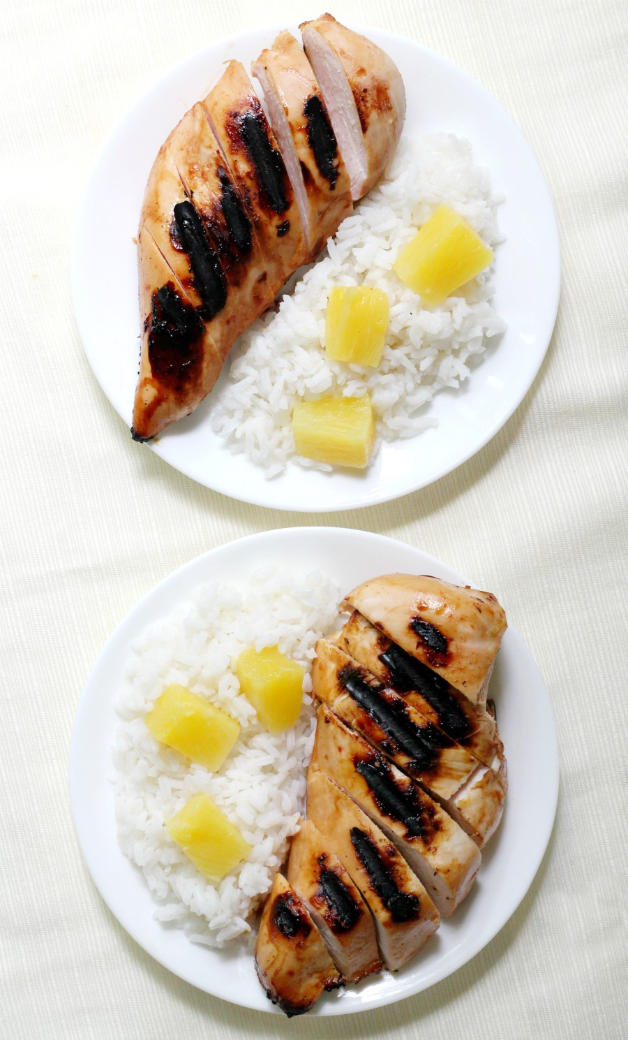 overhead-two-grilled-hawaiian-chicken-plates