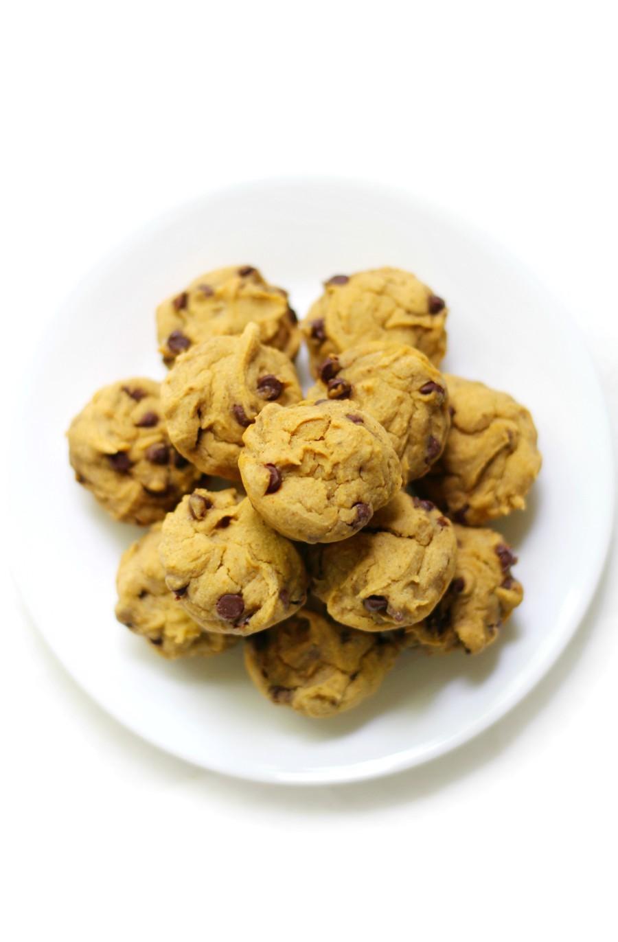overhead-chocolate-chip-pumpkin-muffin-plate