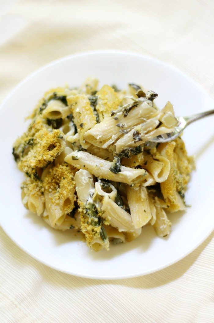 forkful-vegan-spinach-artichoke-pasta-bake