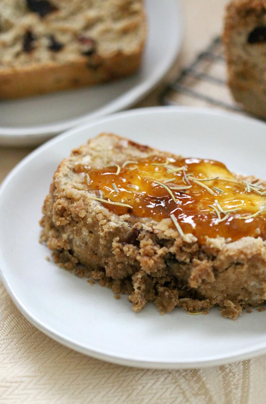 Sweet Gluten-Free Rosemary & Fig Quick Bread (Vegan, Allergy-Free)