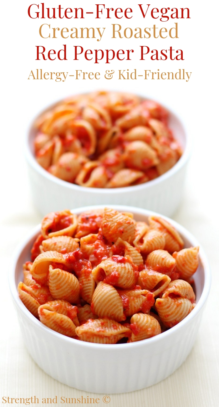 two-bowls-red-pepper-pasta-straight-on-pin