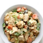 bowl-of-tahini-chicken-salad-overhead-pin