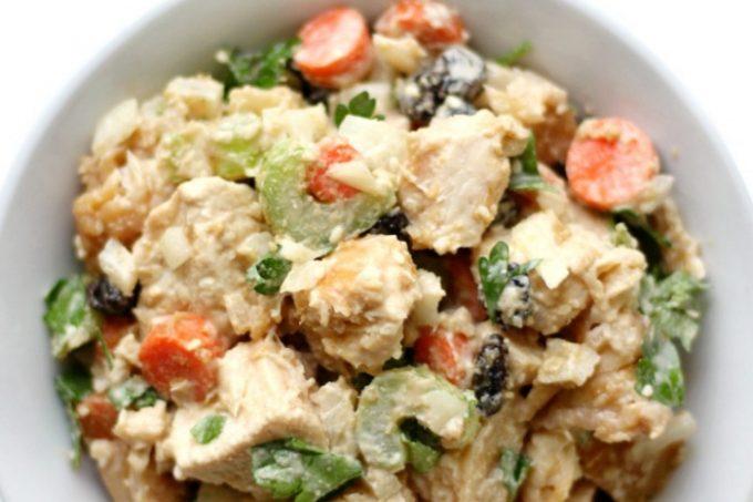 bowl-of-tahini-chicken-salad-overhead-pin