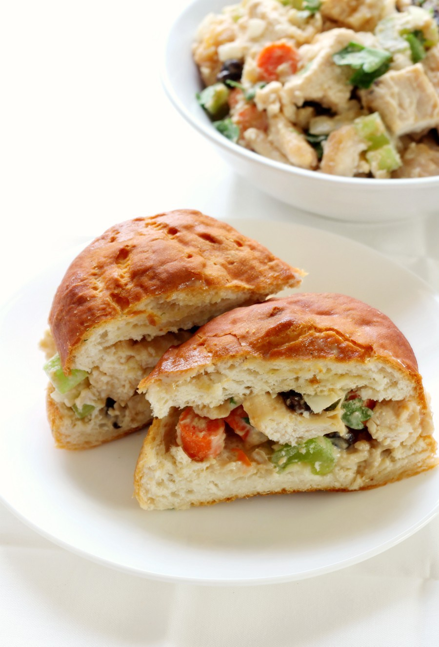 tahini-chicken-salad-sandwich-with-bowl