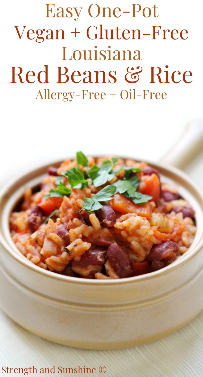 Easy One Pot Vegan Gluten Free Louisiana Red Beans Rice Allergy Free