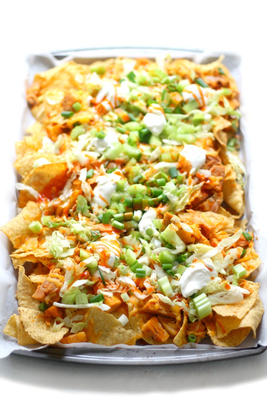 45-degree-angle-sheet-pan-vegan-buffalo-chicken-nachos