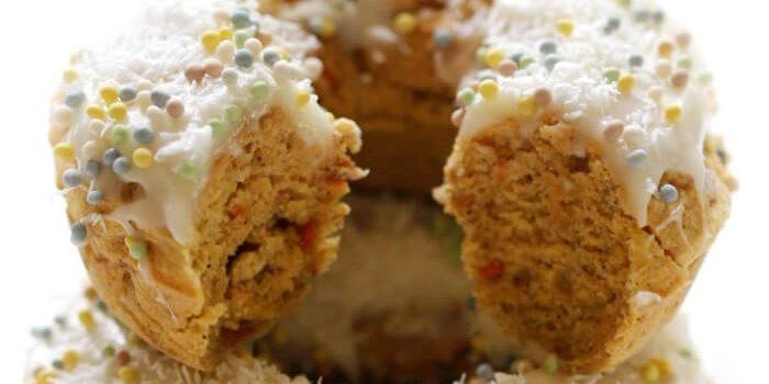 Baked Gluten-Free Carrot Cake Doughnuts (Vegan, Allergy-Free)