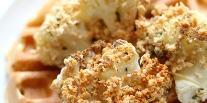 Air Fryer Gluten-Free + Vegan Chicken & Waffles (Allergy-Free, Oil-Free)