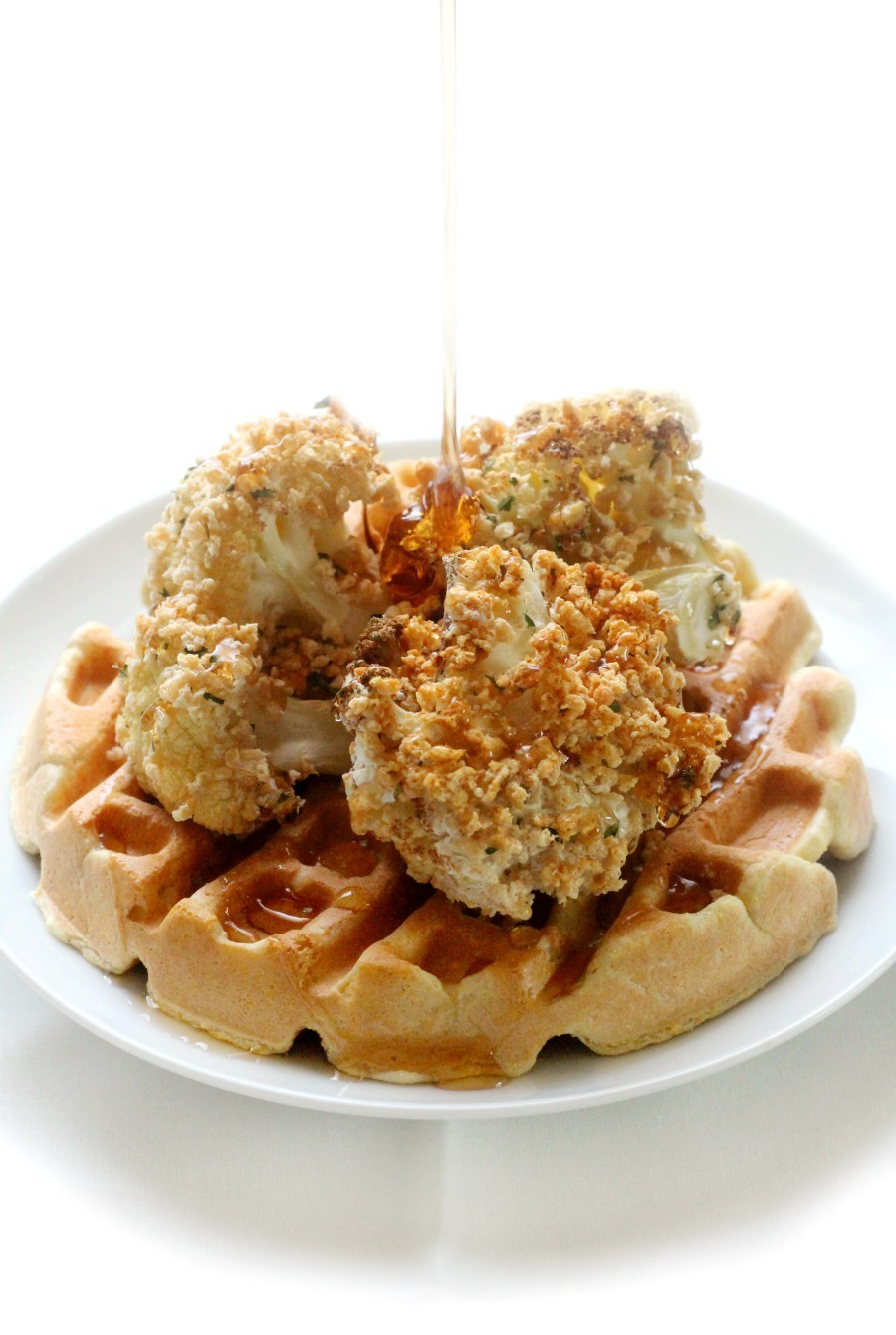 maple-syrup-pour-on-gluten-free-vegan-chicken-and-waffles