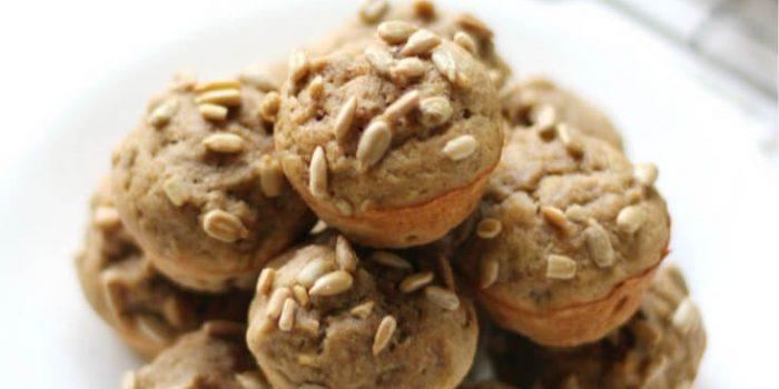 Gluten-Free Banana Sunflower Mini Muffins (Vegan, Allergy-Free)