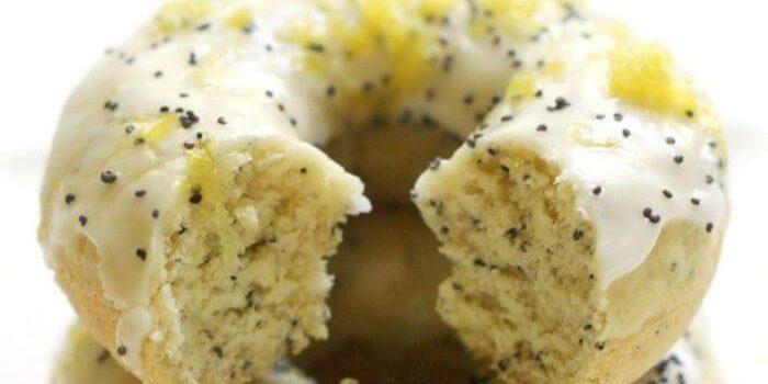 Baked Gluten-Free Lemon Poppy Seed Doughnuts (Vegan, Allergy-Free)
