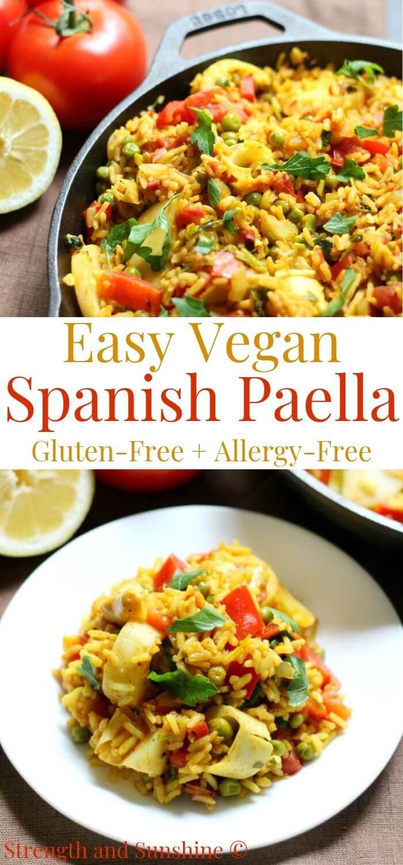 Easy Spanish Vegan Paella Gluten Free Allergy Free