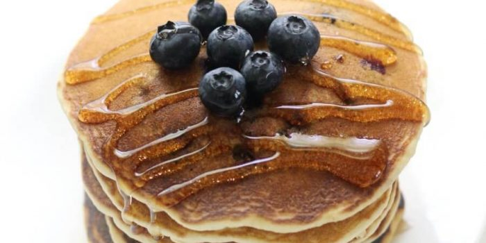 The Best Gluten-Free Blueberry Pancakes (Vegan, Allergy-Free)