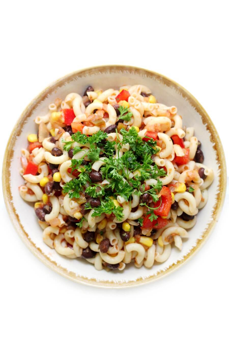 large bowl of easy gluten-free Mexican pasta salad