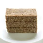3 stacked no-bake granola bars