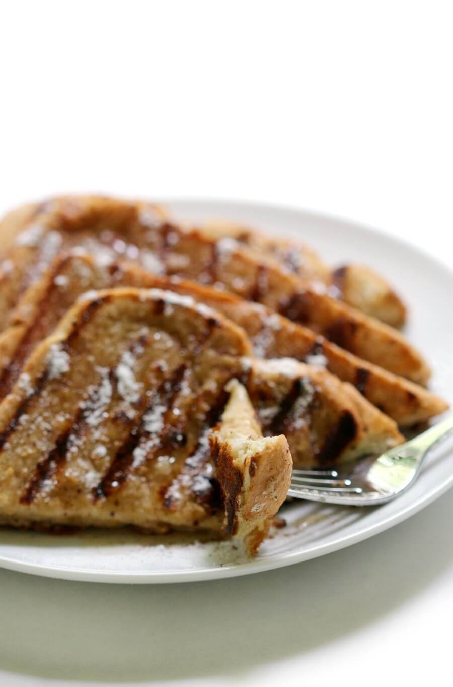 front view of gluten-free grilled french toast