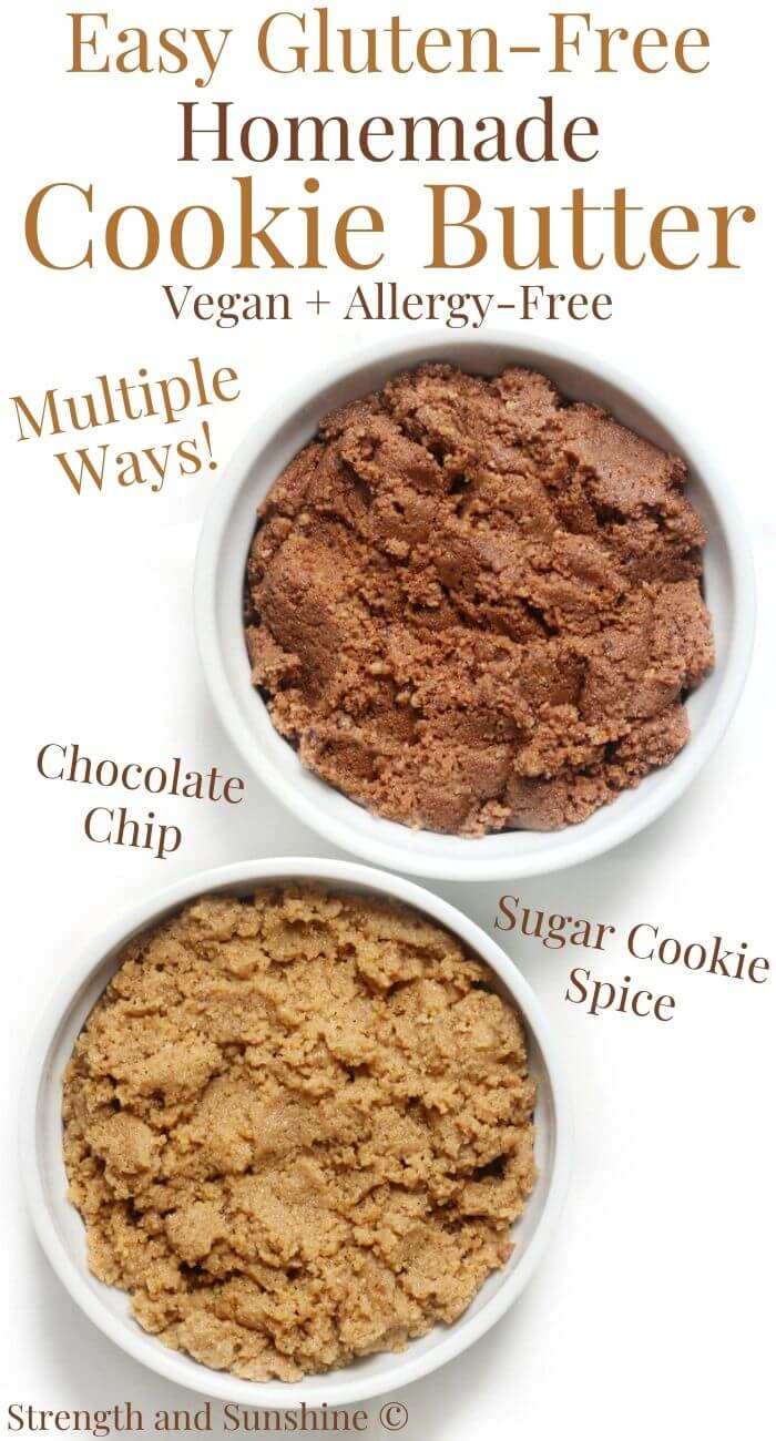 gluten-free cookie butter with image text
