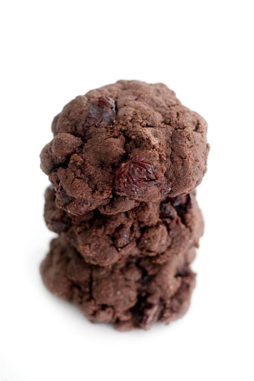 tower of gluten-free chocolate cherry cookies