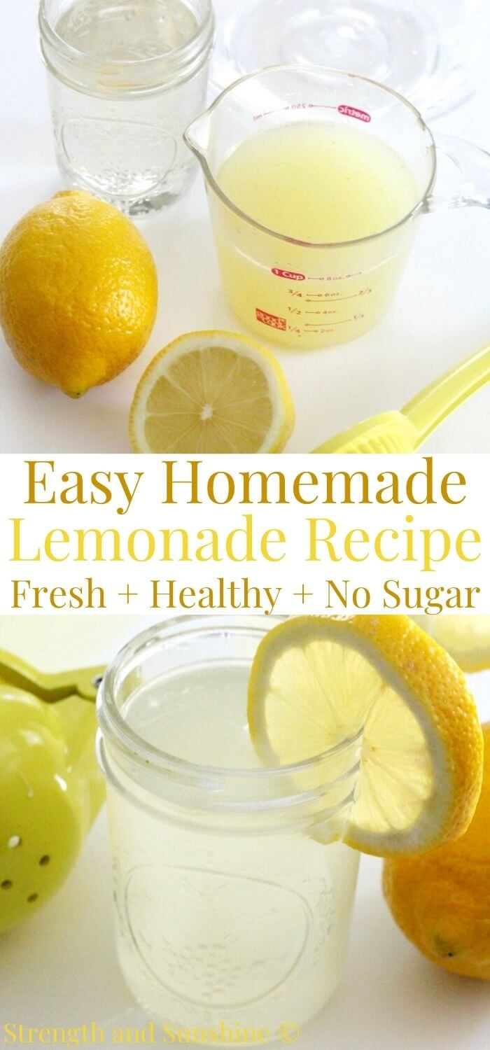 How To Make Lemonade Without Sugar Healthy Homemade Recipe