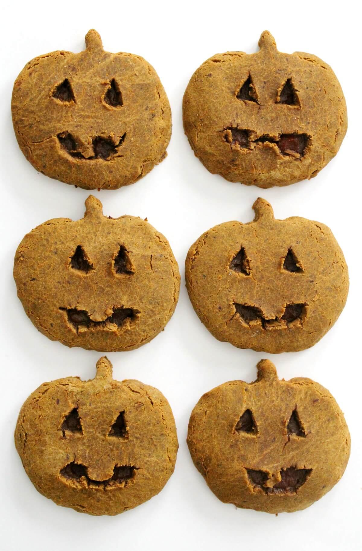 6 homemade little debbie pumpkin delights in 2 rows