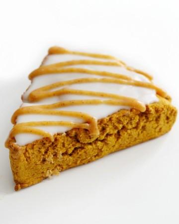 single iced gluten-free pumpkin scone