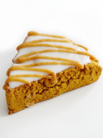 single iced gluten-free pumpkin scone